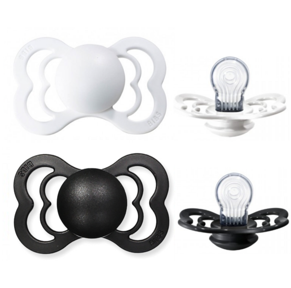White & Black Silicone - BIBS Supreme