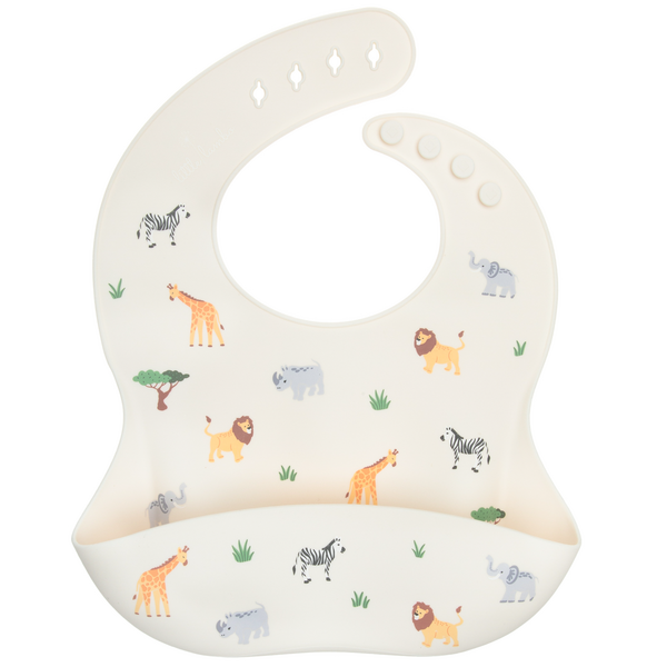 Silicone Bib - Animal Safari